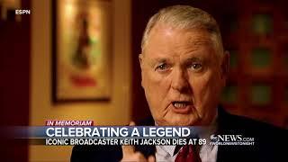 Legendary sportscaster Keith Jackson dies at age 89