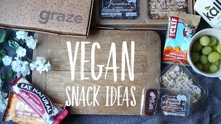 15 VEGAN SNACK IDEAS - creative snacks for emergency hunger // #ad