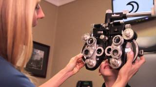 How does a pediatric optometrist check a child