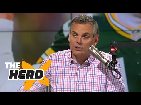 Colin reacts to Aaron Rodgers most remarkable play from win over Cowboys THE HERD