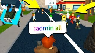 GIVING EVERYBODY ADMIN COMMANDS! (Roblox)