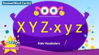 Kids vocabulary compilation - Words starting with X x, Y y, Z z - Word cards - review