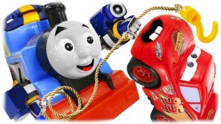 Train Thomas to the Rescue - Lightning McQueen and the Abyss