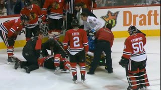 Trevor Daley Injury After Collision with Thorburn