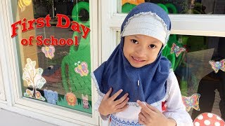 Hari Pertama Aqilla Masuk Sekolah SD Kelas 1 ♥ Ayo Semangat Aqilla
