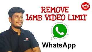 Remove 16MB Video limit Whatsapp |  Tamil Tech Today Semma Tricks Series