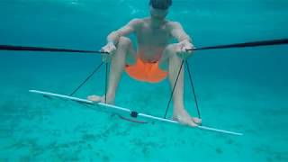 Mike Matthesen rocking the Subwing Underwater in Isla Mujeres Mexico