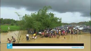 آلاف من الروهينغا يتكدسون في مخيمات بدائية