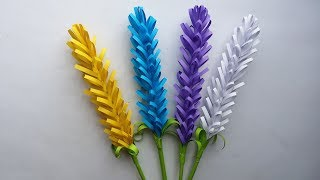 DIY: How to Make Lavender Paper Flower!!! Easy Lavender Flower for Bigginers Making!!!