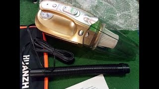 Car Vacuum Cleaner 4 in 1 Portable Handheld Wet Dry DC 12V 100W 3800 Pa Suction HUANZHAN High Power
