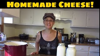 How To Make Homemade Cheese!  Simple, Cheap & Delicious