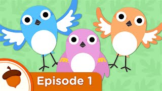 Hello Baby Sparrows | Treetop Family Ep.1 | Cartoon for kids