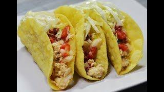 طرز تهیه تاکو مکزیکی با سالسا | Mexican Chicken Taco with Salsa- Eng Subs