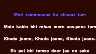 baaton ko teri karaoke cover version with lyrics