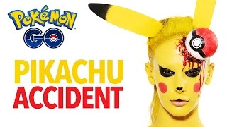 Pokémon Go accident Pikachu makeup tutorial