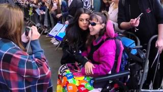 Selena Gomez Surrounded By Fans Outside The BBC Radio 1 In London, UK
