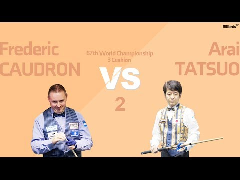 당구 Billiard 3 Cushion Frederic Caudron v Arai Tatsuo 67th World Championship Group Stage Full 2