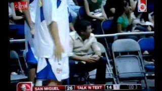 Chot Reyes was knockout by the chairs.