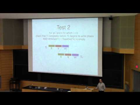 CSE562-2015-Lecture 24-Optimistic Concurrency Control