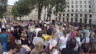 Anneka Svenska speech at Global March for Elephants and Rhino