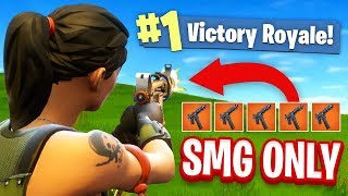 The SMG ONLY CHALLENGE In Fortnite Battle Royale!