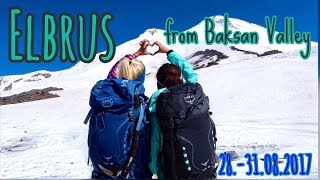 ELBRUS via Baksan-Valley July 2017 I Normal regular route south (Normalweg Juli)