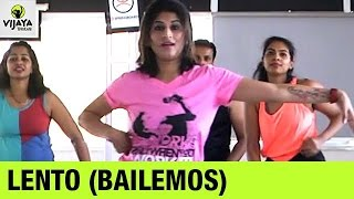 Zumba Routine on Lento (Bailemos) | Zumba Workout Routine | Choreographed by Vijaya Tupurani