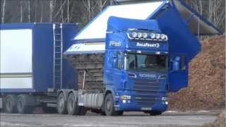 Scania R500 6x2 Unload Wood Chips