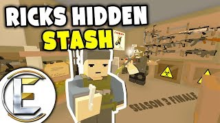 Ricks Hidden Stash - Unturned Roleplay Outbreak Story S3#9 Finale (Enough Weapons To Supply An Army)