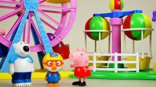 Peppa Pig Amusement park and Pororo toys