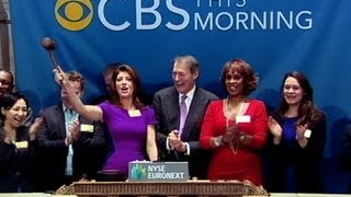 """CBS This Morning"" anchor team rings NYSE Closing Bell"