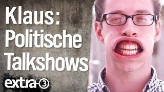 Die Sendung mit dem Klaus: Politische Talkshows | extra 3 | NDR