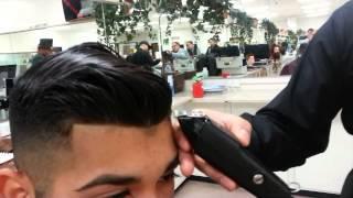 Mario Nev Jr giving a Haircutting Demo, Short video. basic haircut steps/techniques
