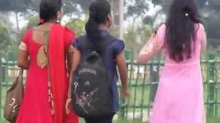 Three Beautiful Girls Are Going on Eco park At kolkata