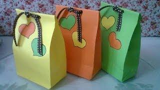 DIY : #1 Cute Paper Bags For Gift ♥