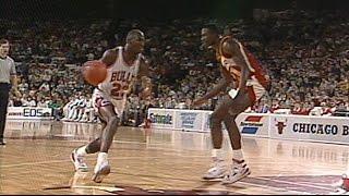 Michael Jordan VS Dominique Wilkins 11.18.88. Wilkins 39 Points, MJ 34 Points