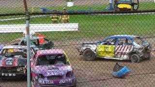 Part OneDemolition Derby Gensee county fair ny.Flagman dies next day 26th