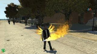 Grand Theft Auto IV - Luis The FIRE GOD (Magic GOD Powers) (MOD) HD