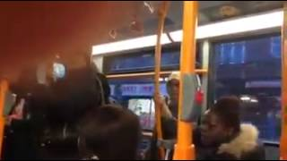 Pakistani Woman Arguing With A Black Lady On Bus In Barking