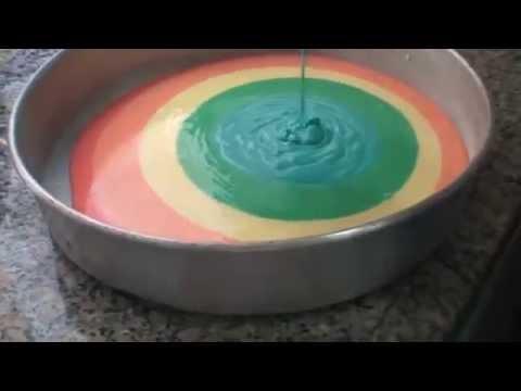 Como fazer Bolo colorido
