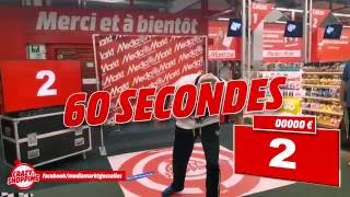 "17277 € in 90 seconds ""Crazy Shopping"" by Media Markt Gosselies (Belgium)"
