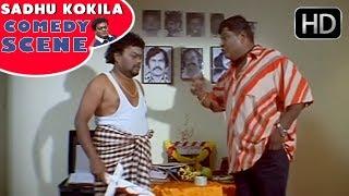 Sadhu Kokila Meeting Rowdy to Direct Movie | Bullet Prakash | Latest Kannada Comedy Scenes