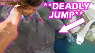 **CLOSE CALL** JUMP OVER HUGE GAP!!
