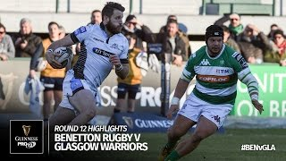 Round 12 Highlights: Benetton Treviso v Glasgow Warriors | 2016/17 season