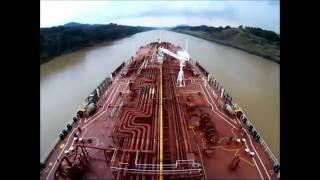 Time Lapse Panama canal full transit in 4 minutes. Navigation bridge view