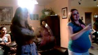 babyshower dance off marly vs. diana