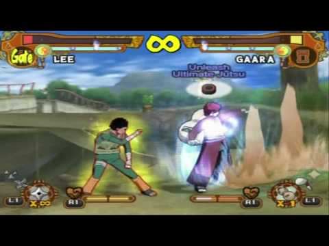 Naruto Shippuden Ultimate Ninja 5 TS Lee vs TS Gaara Tournament 1 Full HD