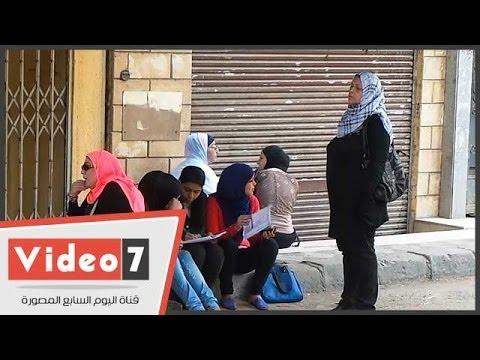 بالفيديو طالبات مدرسة المنيرة يراجعن مادة فلسفة قبل أداء الامتحان