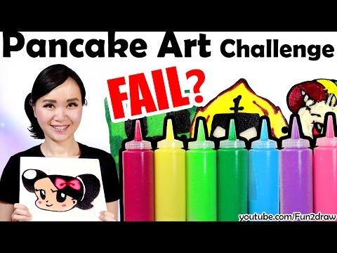 First PANCAKE ART CHALLENGE