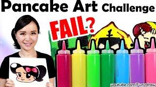 First PANCAKE ART CHALLENGE! | Mei Yu